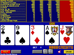 Mécanismes bancaires au vidéo poker